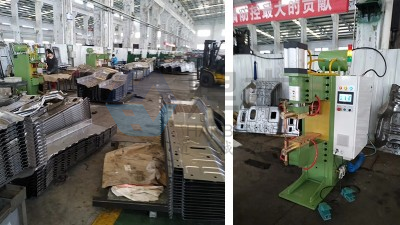 青岛焊本为烟台某汽车制造公司安装调试中频点焊机