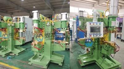 山东某客户安装焊本双工位中频点焊机