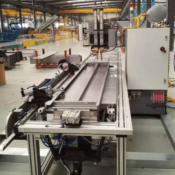 工业货架加强筋自动双头点焊机