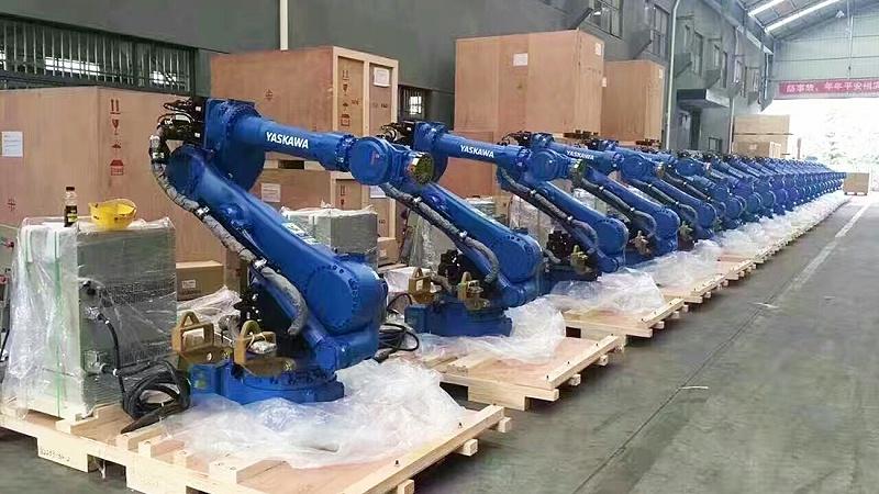 点焊机器人生产现场