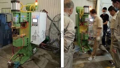 烟台某客户安装焊本风力发电机中频点焊机