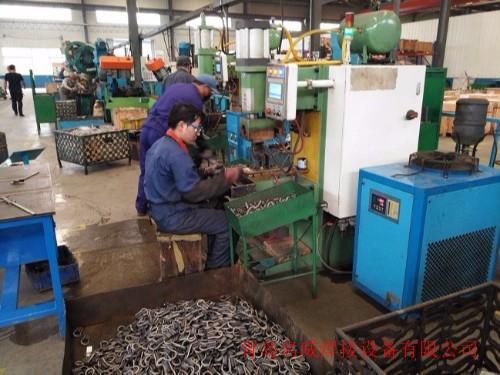 青岛某建筑配件出口厂家使用名威中频点焊机
