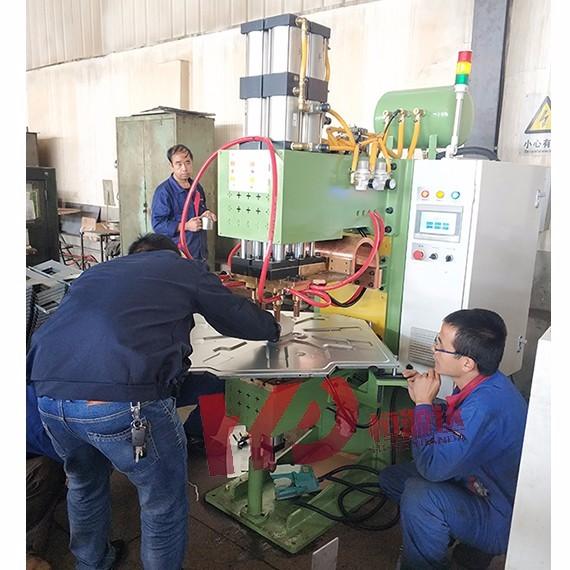 中央空调镶嵌底盘螺柱凸焊机