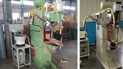 青岛焊本为客户现场调试点焊机和螺母输送机