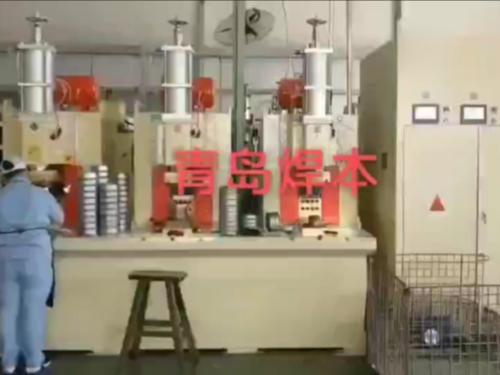青岛焊本水泵叶轮壳凸点焊机,一次完成40个凸点焊接!